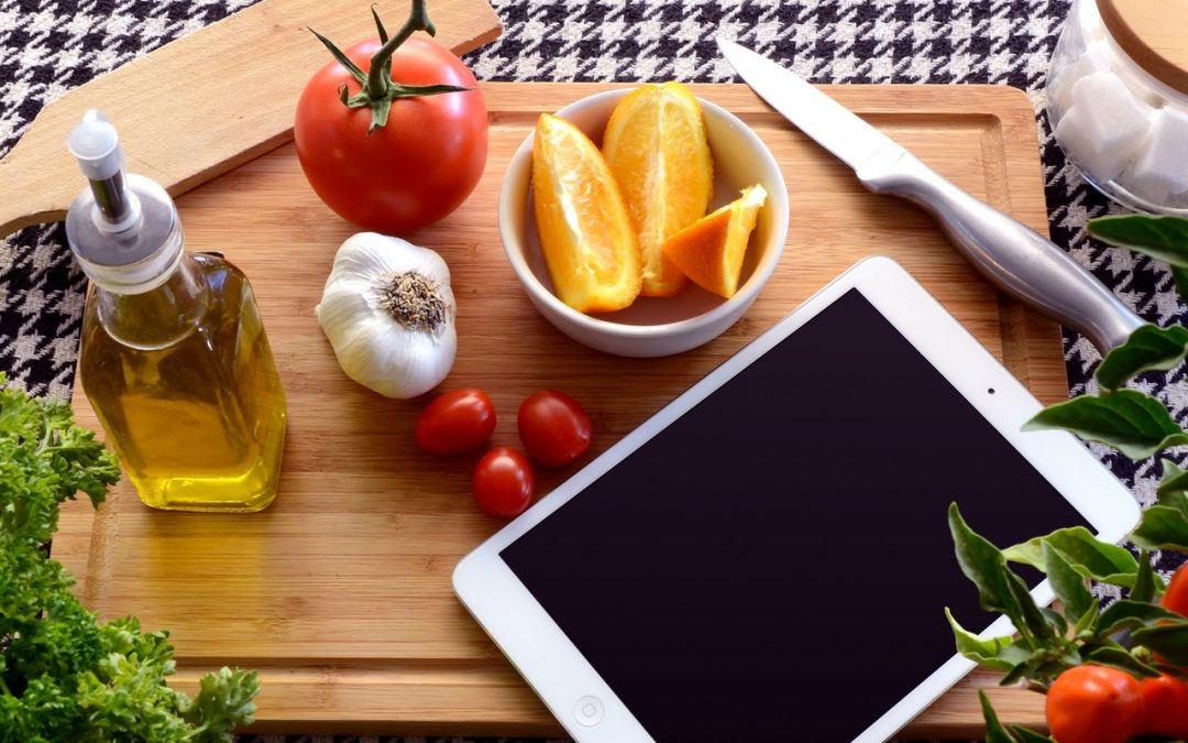 Using a tablet for cooking